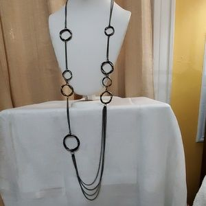Ann Taylor Pewter Chainlink Necklace #587